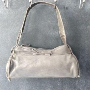 SONDRA ROBERTS | Metallic Gray Tassel Shoulder Bag